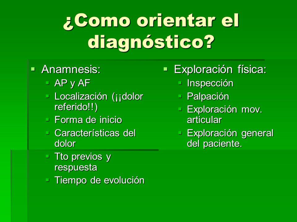 ¿Como orientar el diagnóstico
