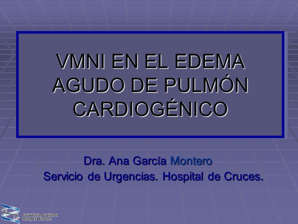 VMNI EN EL EDEMA AGUDO DE PULMÓN CARDIOGÉNICO