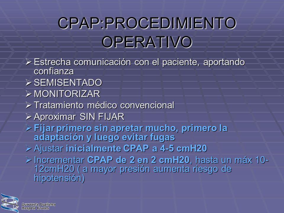 CPAP:PROCEDIMIENTO OPERATIVO