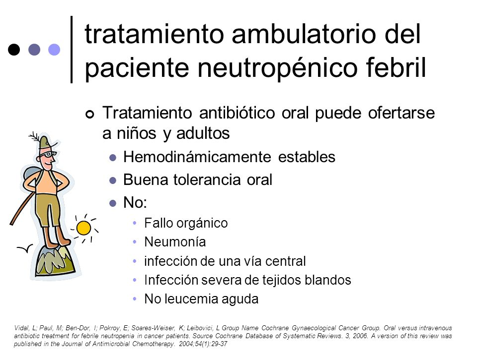 tratamiento ambulatorio del paciente neutropénico febril