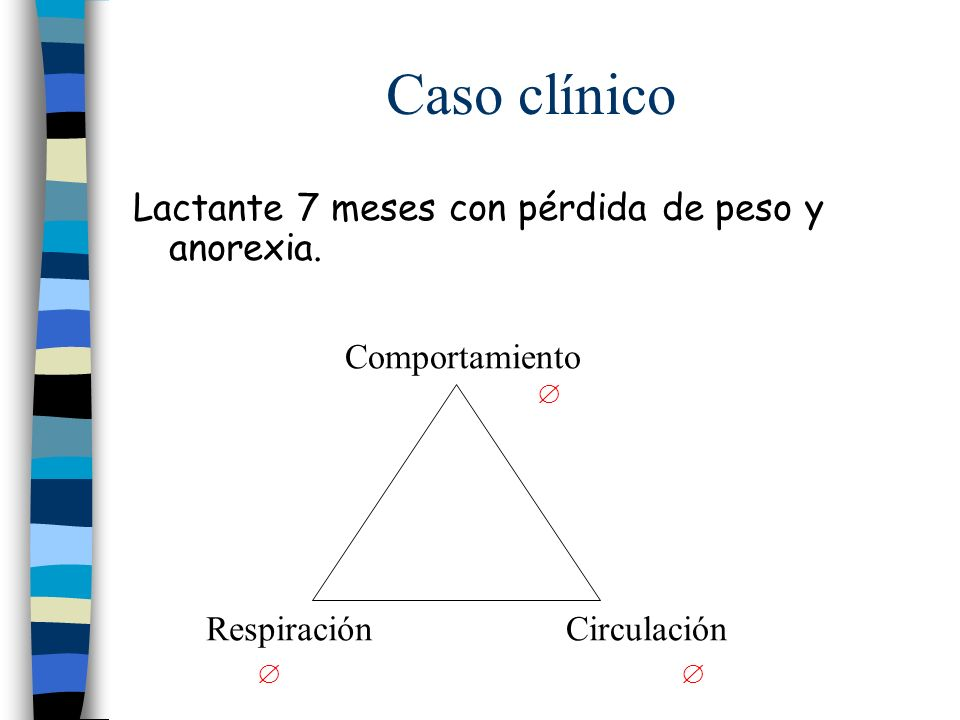 Caso clínico    Lactante 7 meses con pérdida de peso y anorexia.