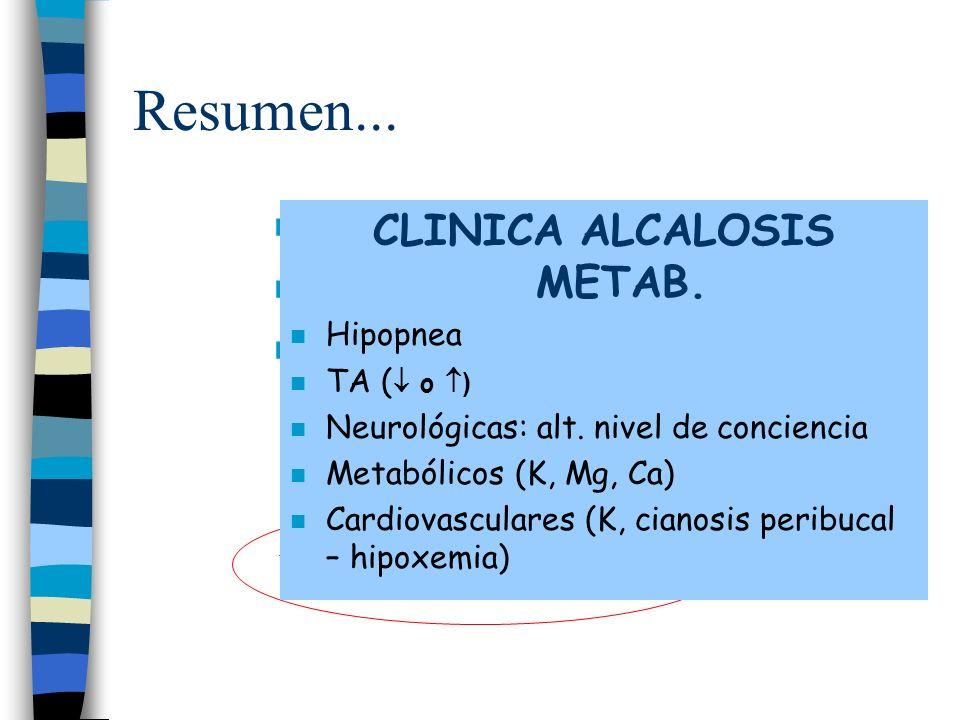 CLINICA ALCALOSIS METAB. ALCALOSIS METABÓLICA HIPOCLORÉMICA