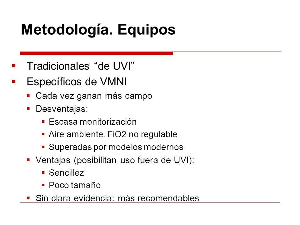 Metodología. Equipos Tradicionales de UVI Específicos de VMNI