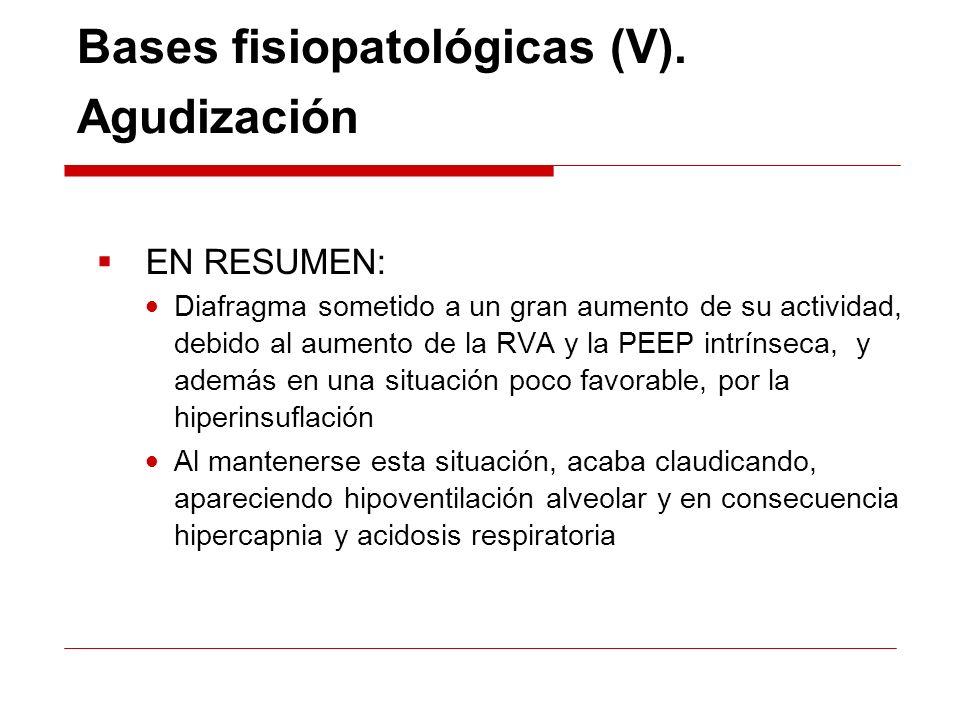 Bases fisiopatológicas (V). Agudización