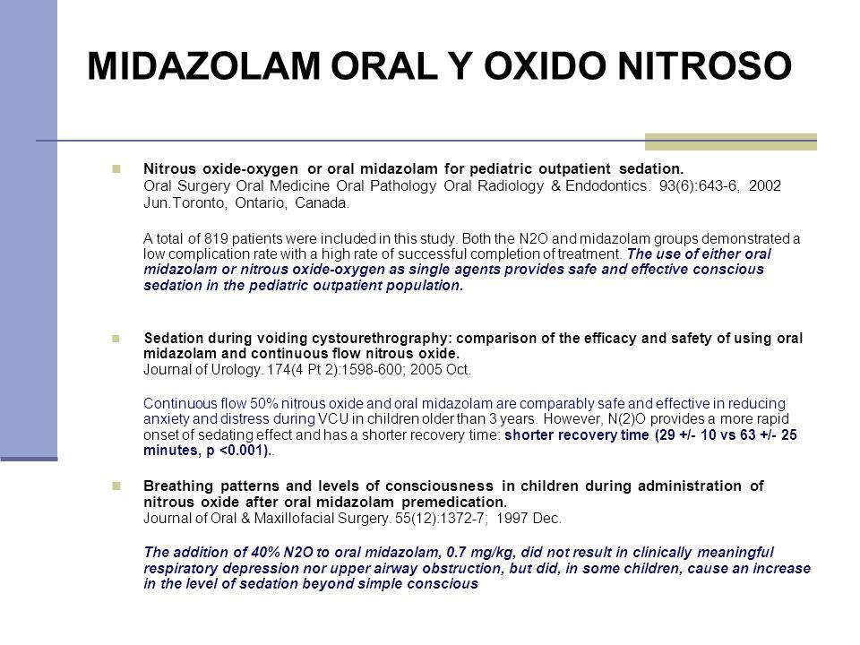MIDAZOLAM ORAL Y OXIDO NITROSO