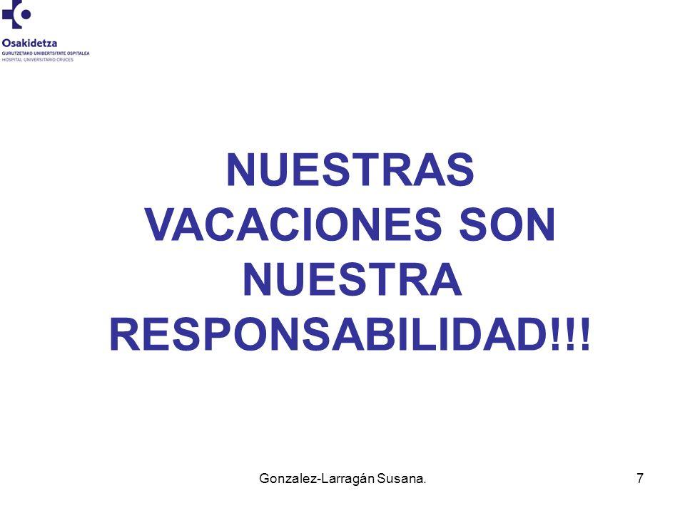NUESTRAS VACACIONES SON NUESTRA RESPONSABILIDAD!!!
