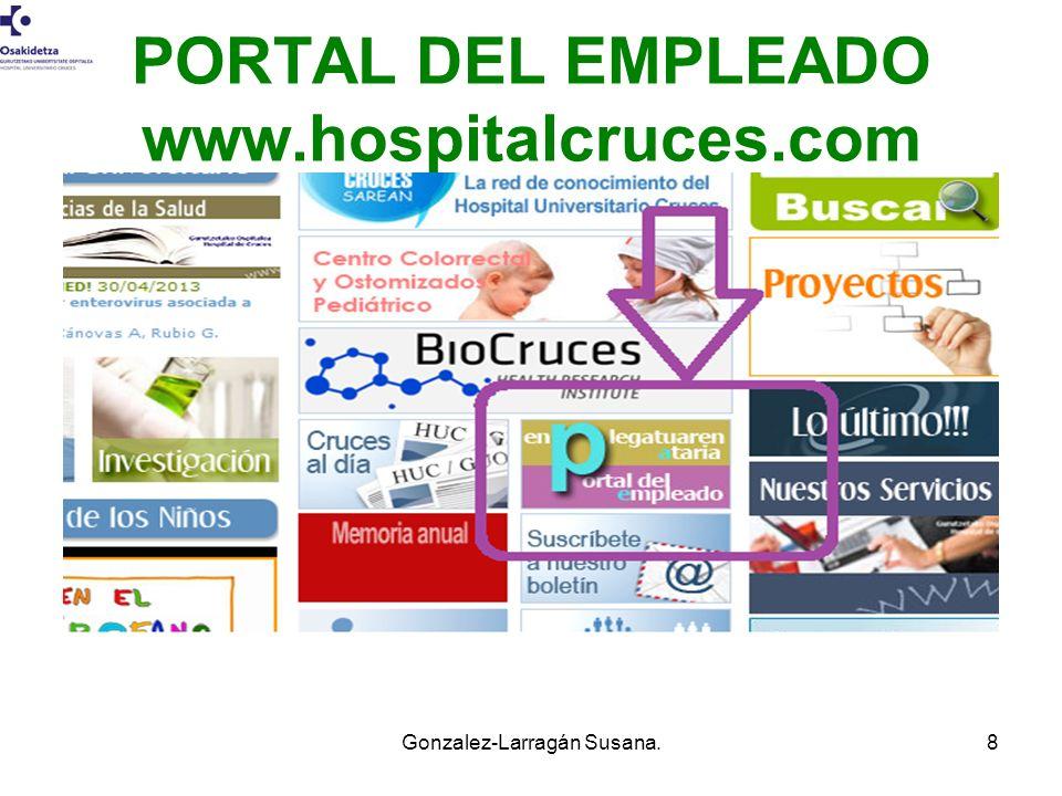 PORTAL DEL EMPLEADO www.hospitalcruces.com