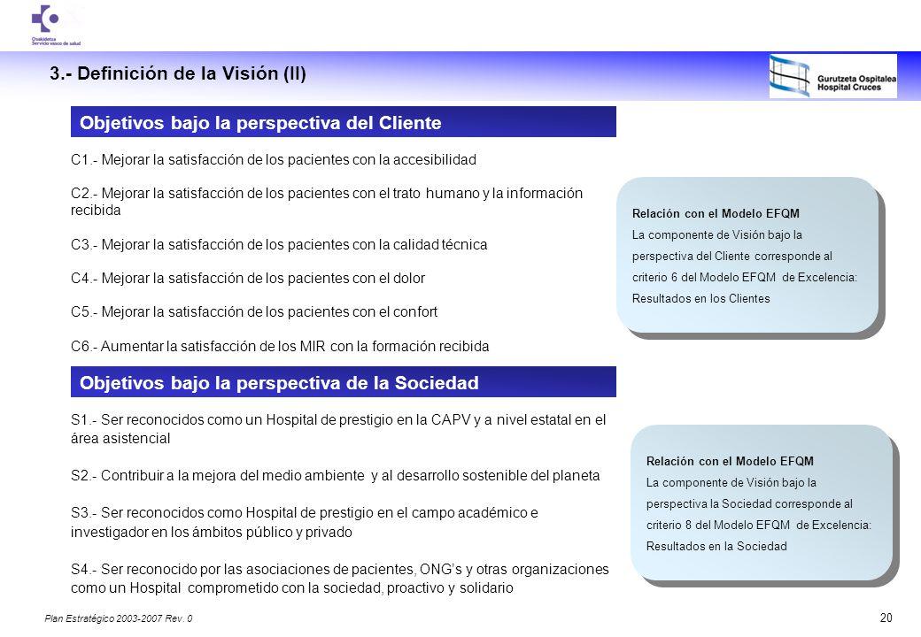 3.- Definición de la Visión (II)