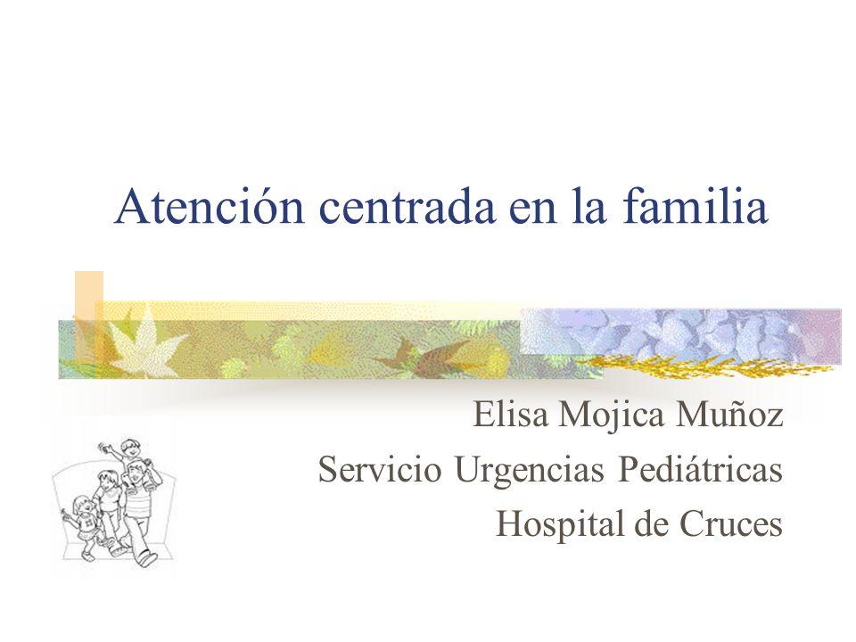 Atención centrada en la familia