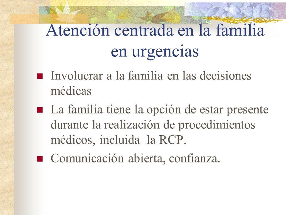Atención centrada en la familia en urgencias