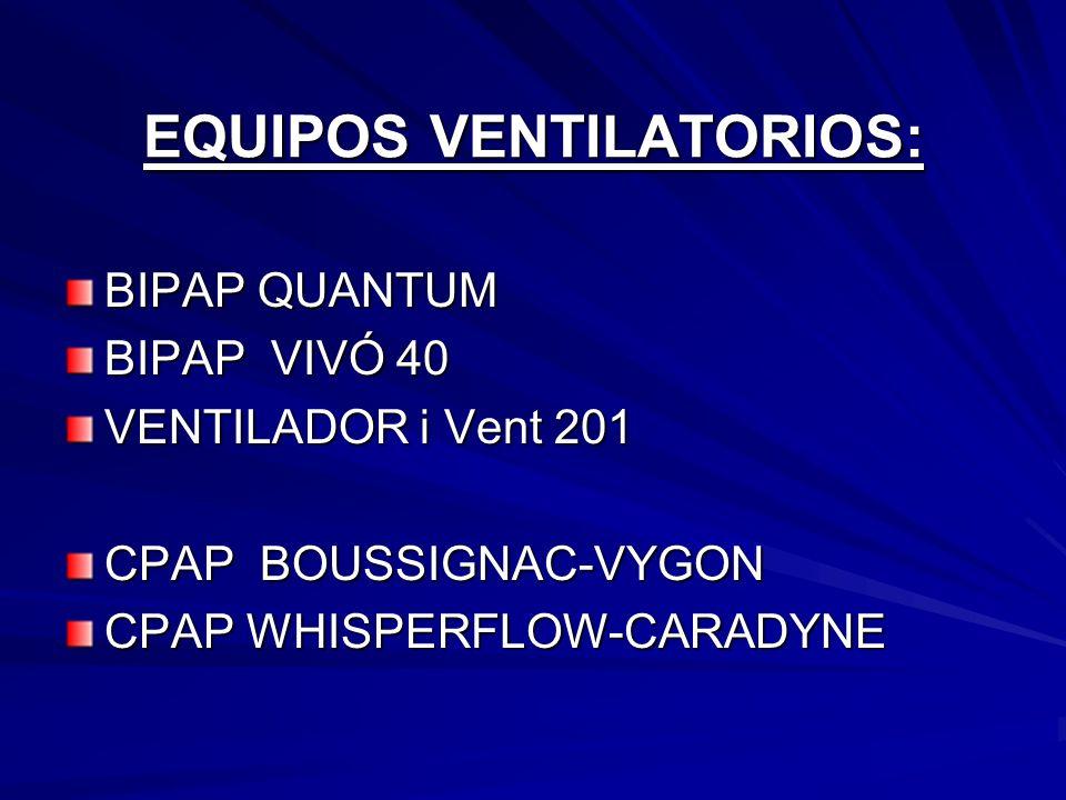 EQUIPOS VENTILATORIOS: