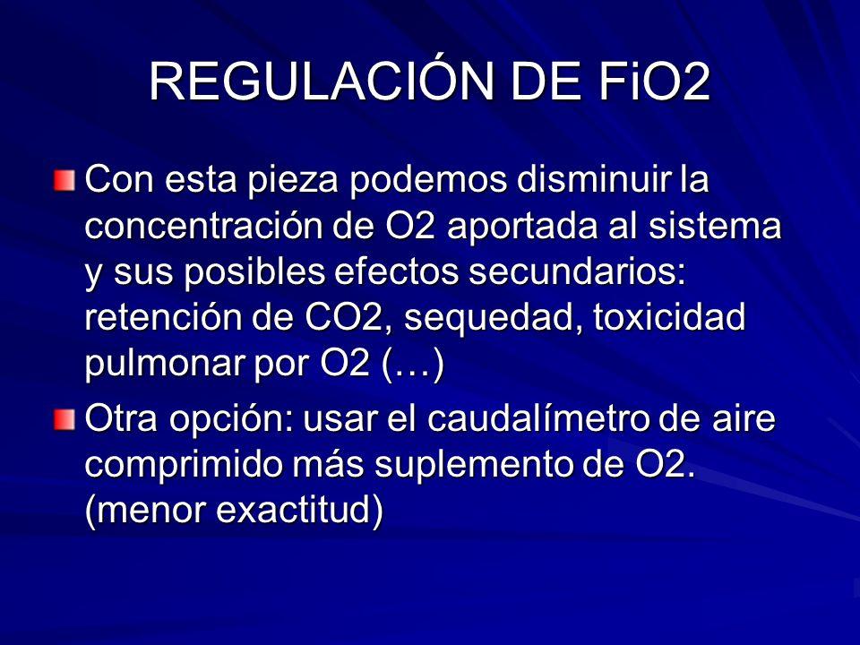 REGULACIÓN DE FiO2