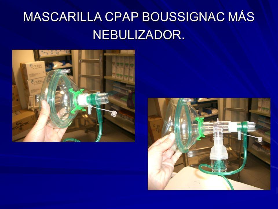 MASCARILLA CPAP BOUSSIGNAC MÁS NEBULIZADOR.