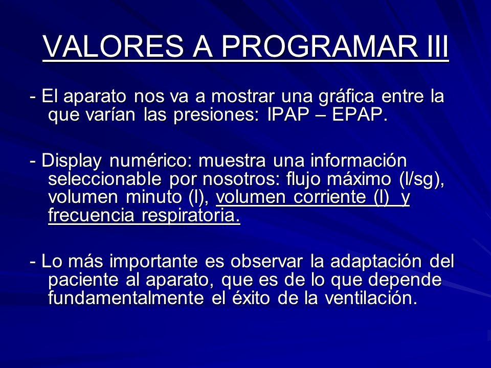VALORES A PROGRAMAR III