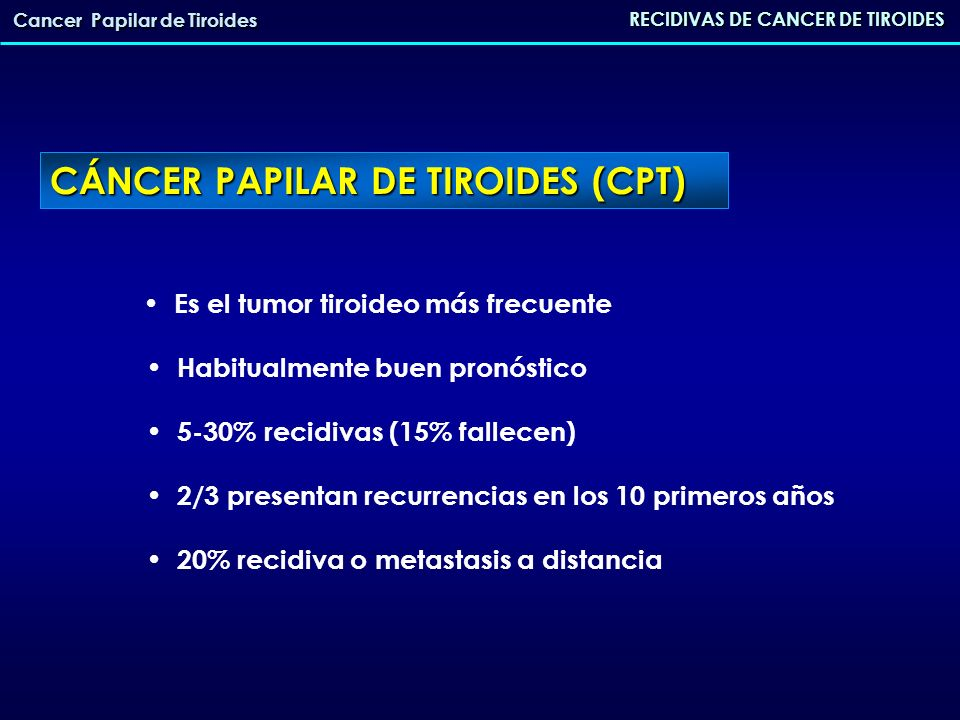 CÁNCER PAPILAR DE TIROIDES (CPT)