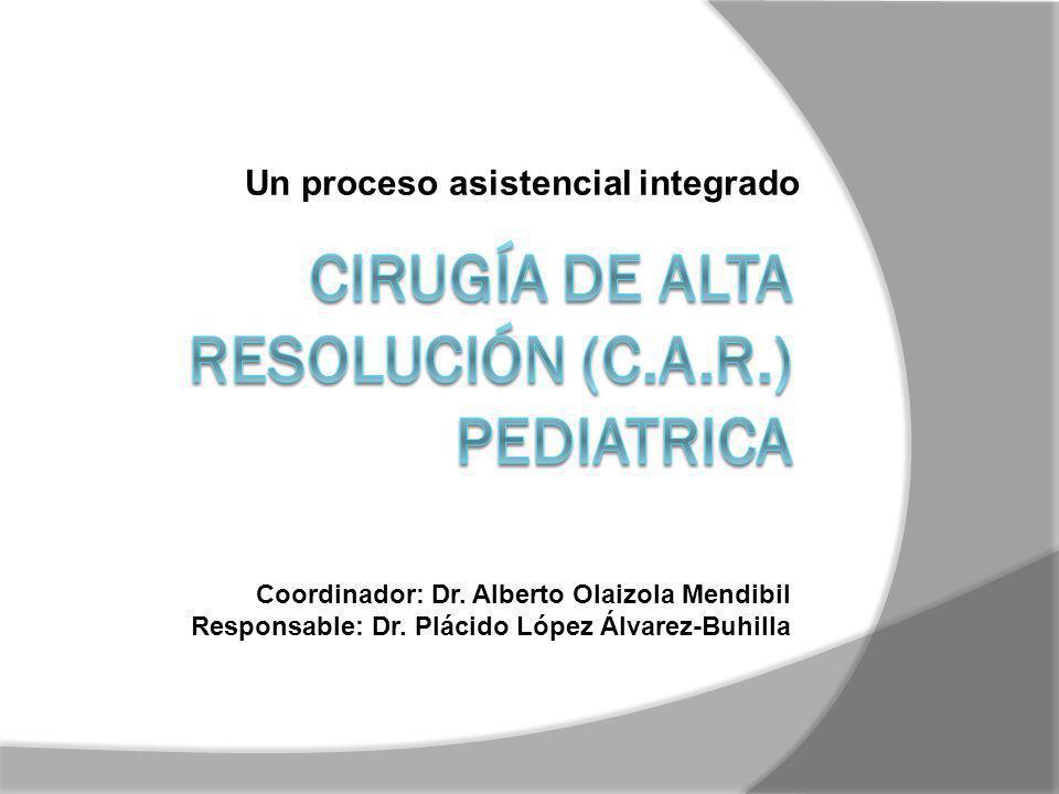 Cirugía de alta resolución (C.A.R.) PEDIATRICA