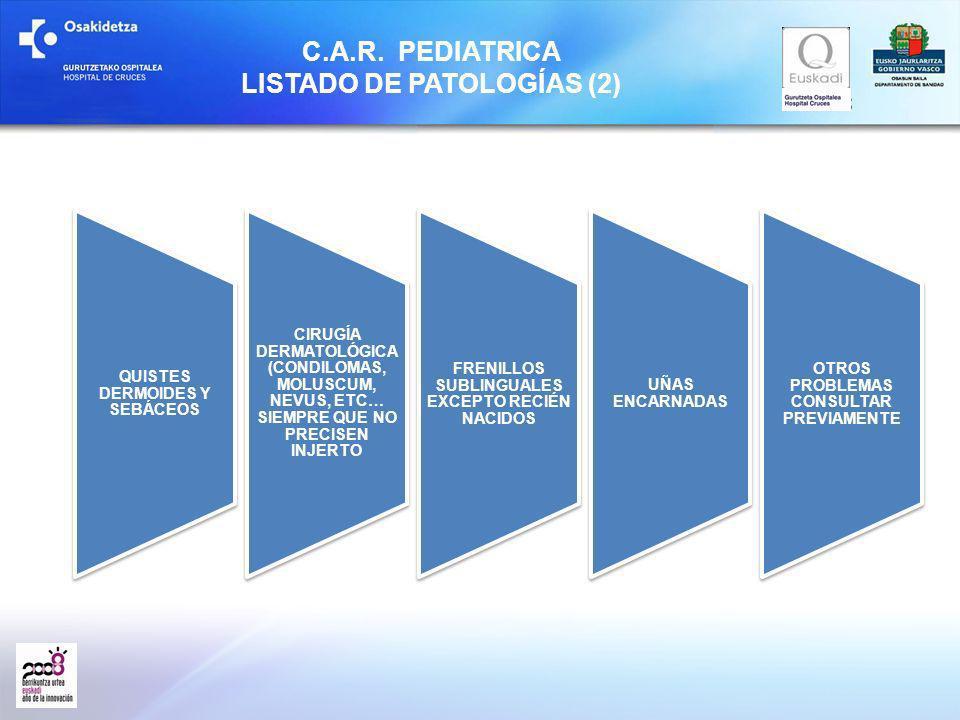 C.A.R. PEDIATRICA LISTADO DE PATOLOGÍAS (2)