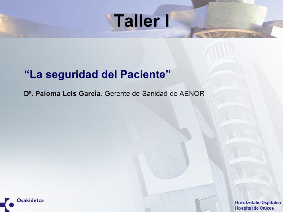 Taller I La seguridad del Paciente