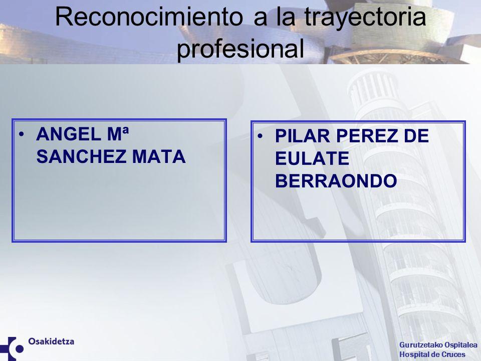 Reconocimiento a la trayectoria profesional
