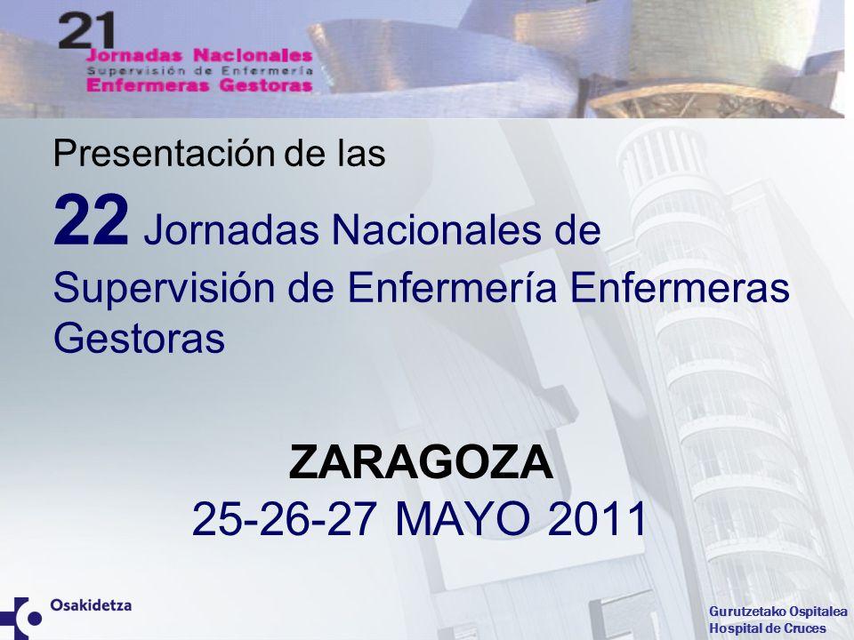 Presentación de las 22 Jornadas Nacionales de Supervisión de Enfermería Enfermeras Gestoras.
