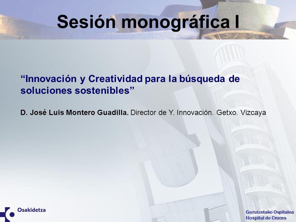 Sesión monográfica I Innovación y Creatividad para la búsqueda de soluciones sostenibles