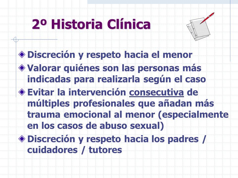 2º Historia Clínica Discreción y respeto hacia el menor
