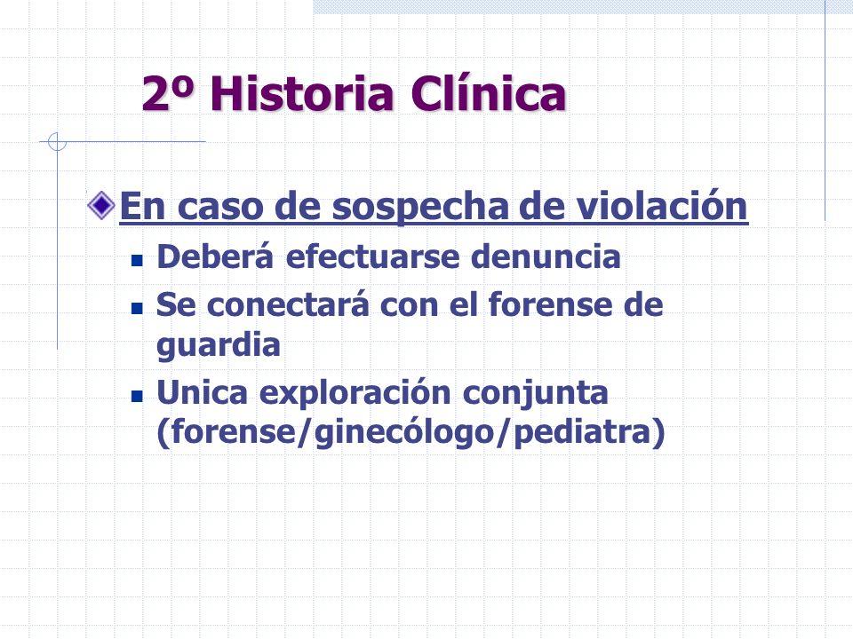 2º Historia Clínica En caso de sospecha de violación