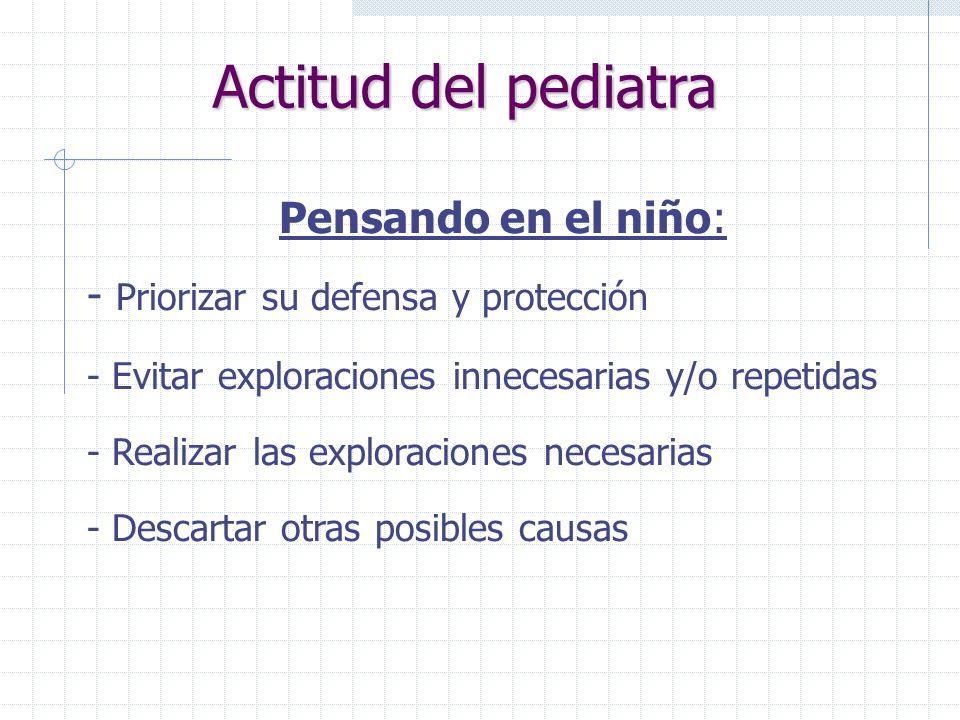Actitud del pediatra Pensando en el niño: