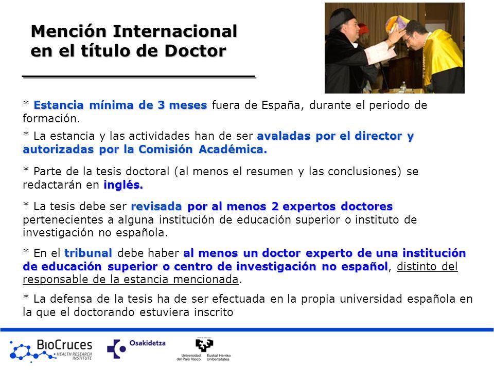 Mención Internacional en el título de Doctor