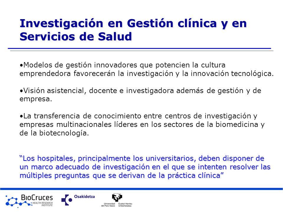 Investigación en Gestión clínica y en Servicios de Salud