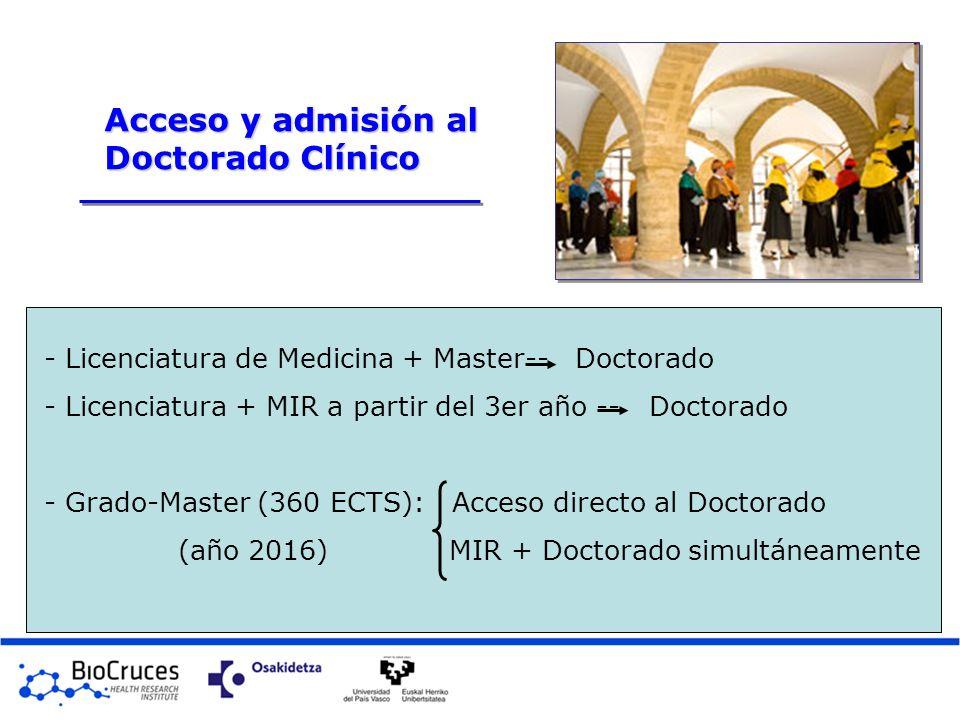 Acceso y admisión al Doctorado Clínico