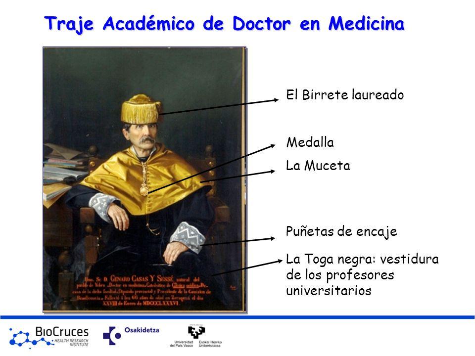 Traje Académico de Doctor en Medicina