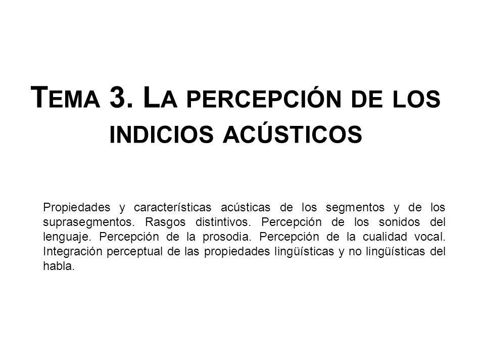 Tema 3. La percepción de los indicios acústicos