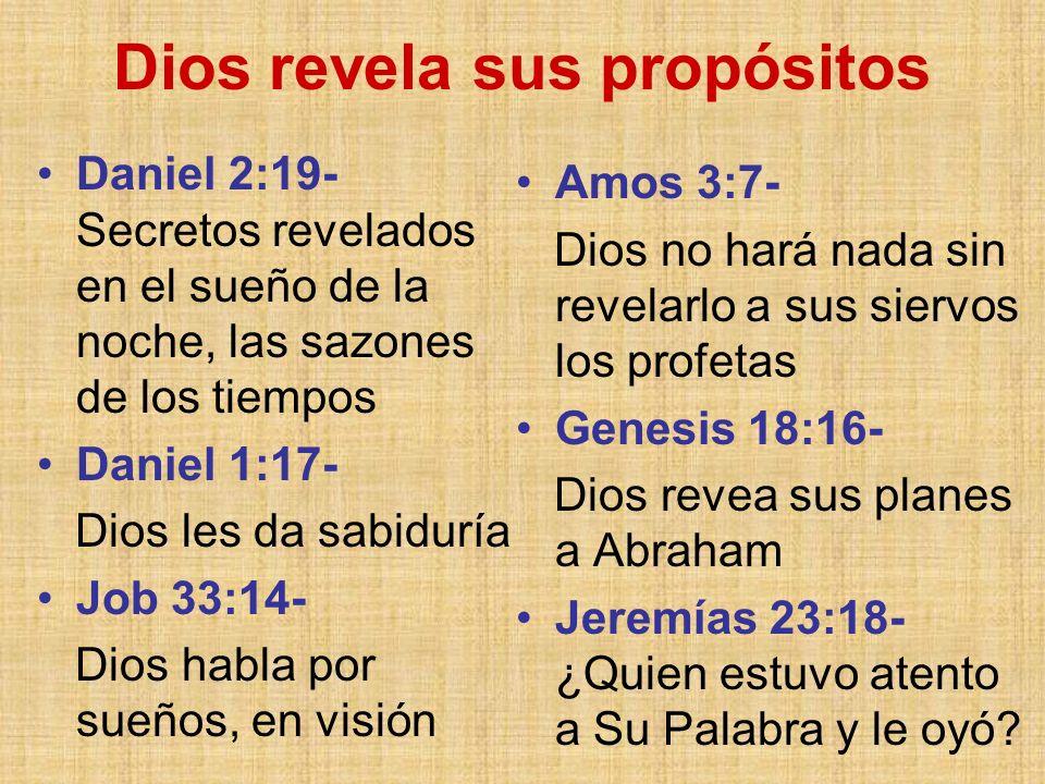 Dios revela sus propósitos
