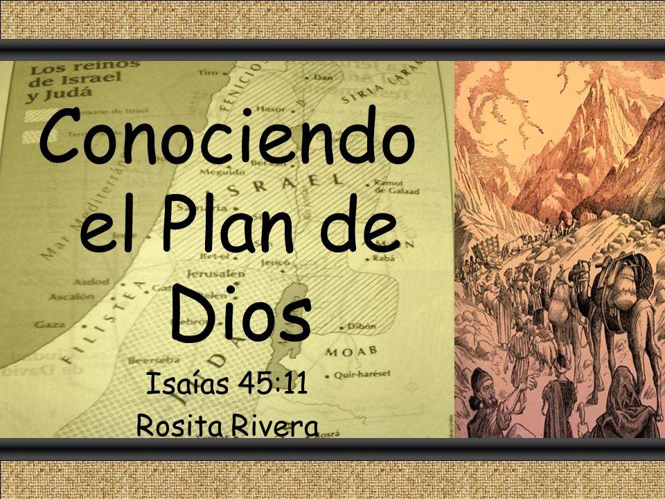 Conociendo el Plan de Dios