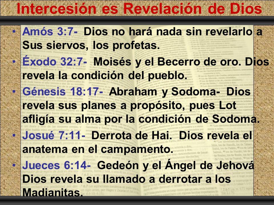 Intercesión es Revelación de Dios