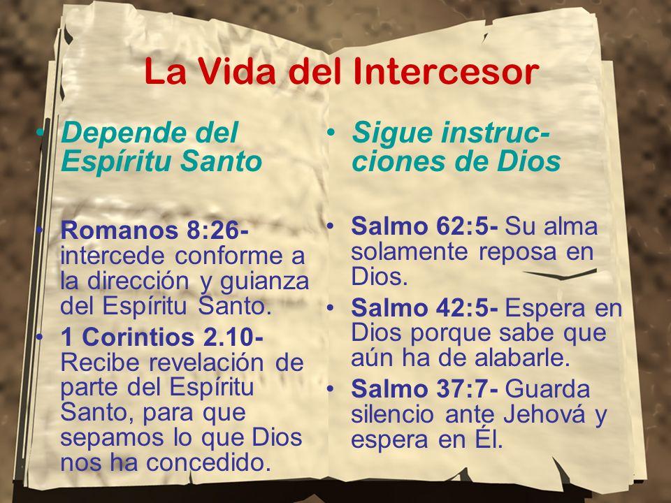 La Vida del Intercesor Depende del Espíritu Santo