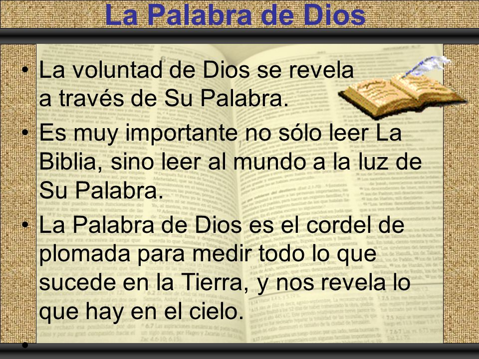 La Palabra de Dios itle La Palabra Revelada de Dios