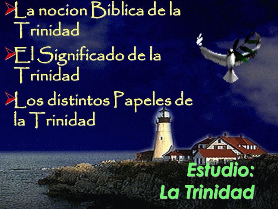 Estudio: La Trinidad La nocion Biblica de la Trinidad