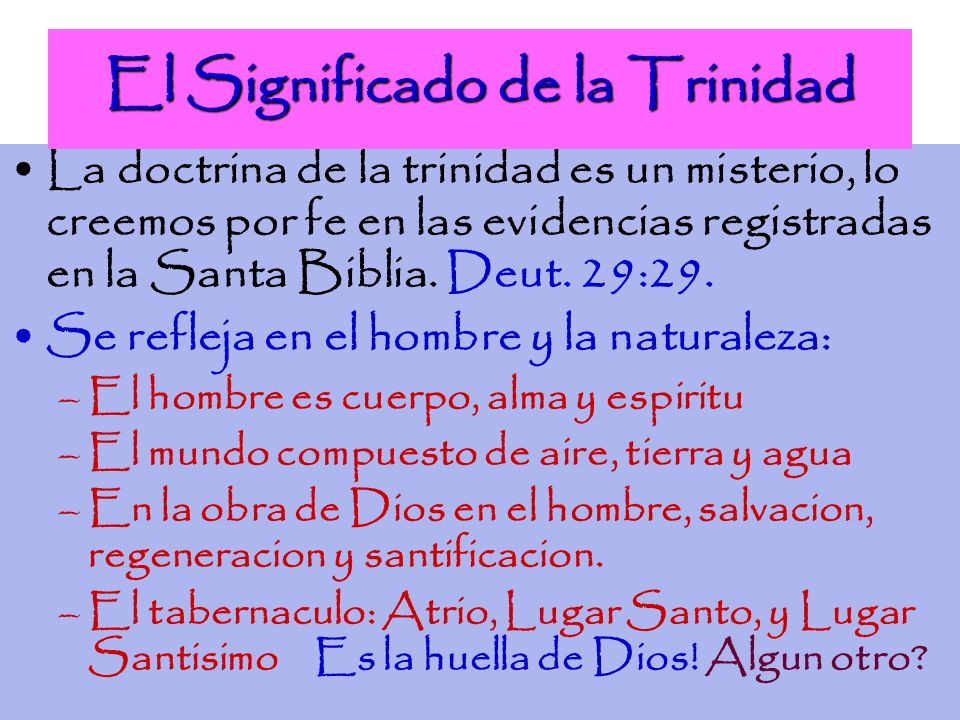 El Significado de la Trinidad