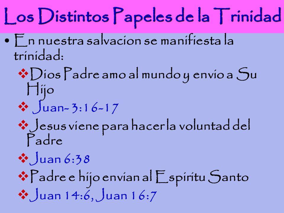 Los Distintos Papeles de la Trinidad