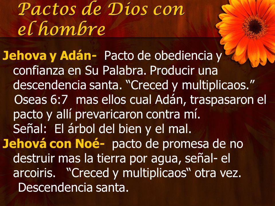 Pactos de Dios con el hombre