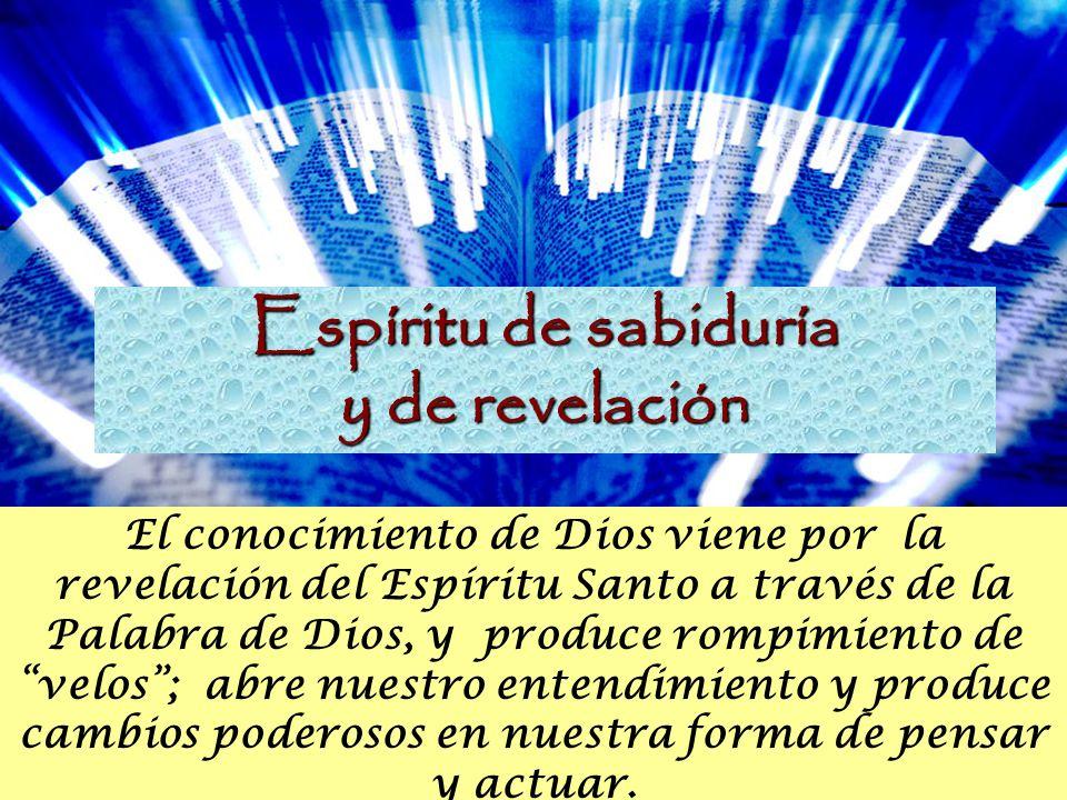 Espíritu de sabiduría y de revelación