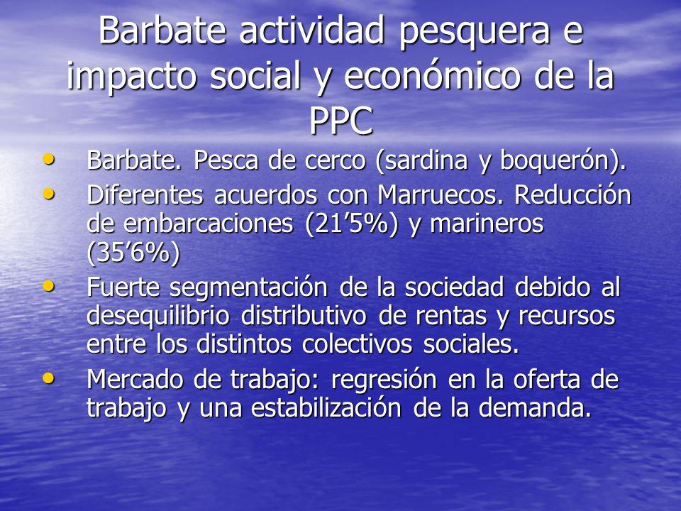 Barbate actividad pesquera e impacto social y económico de la PPC