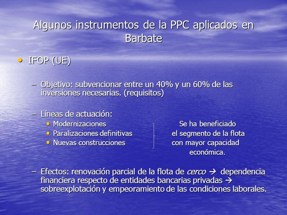 Algunos instrumentos de la PPC aplicados en Barbate
