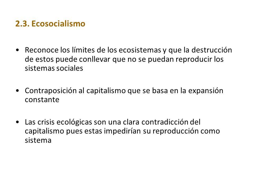 2.3. Ecosocialismo