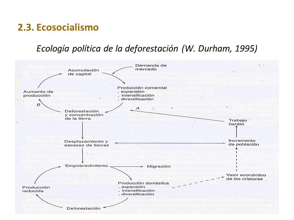 Ecología política de la deforestación (W. Durham, 1995)
