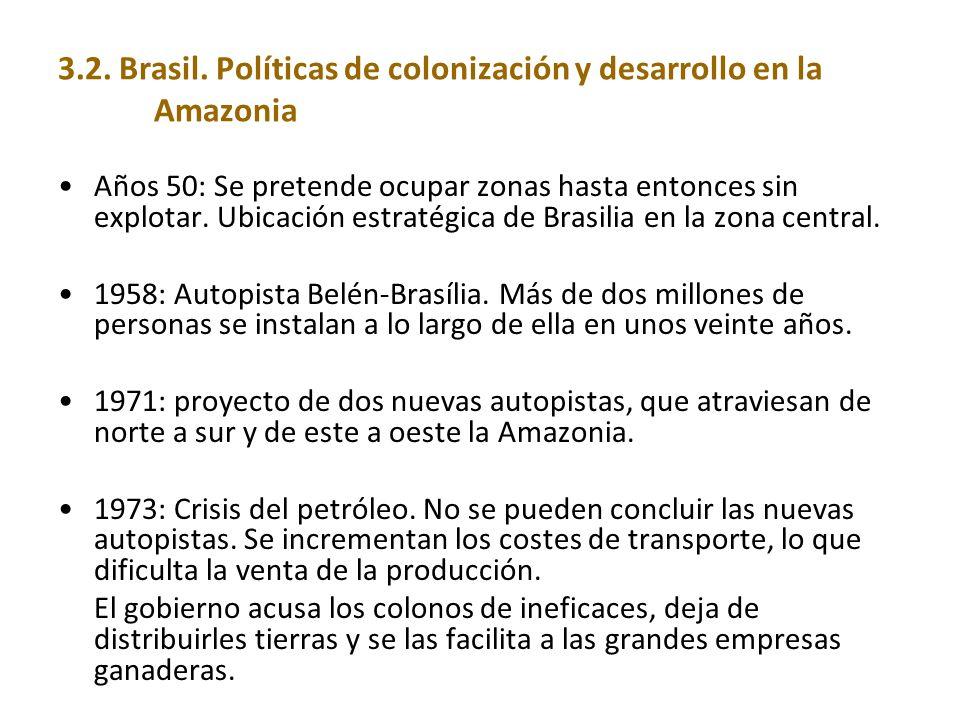 3.2. Brasil. Políticas de colonización y desarrollo en la Amazonia