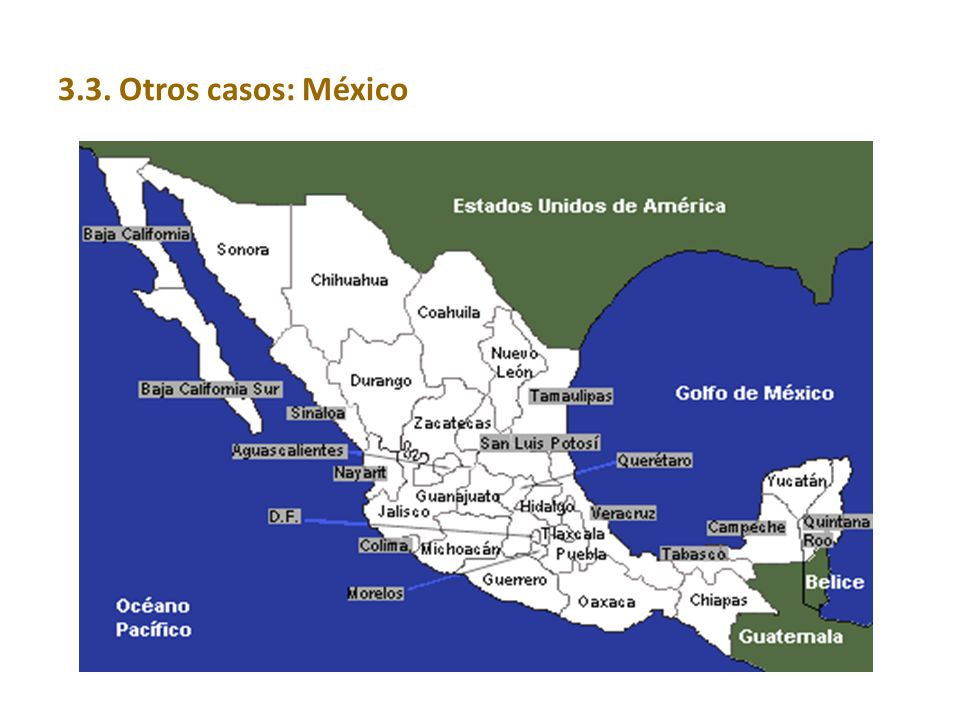 3.3. Otros casos: México 41