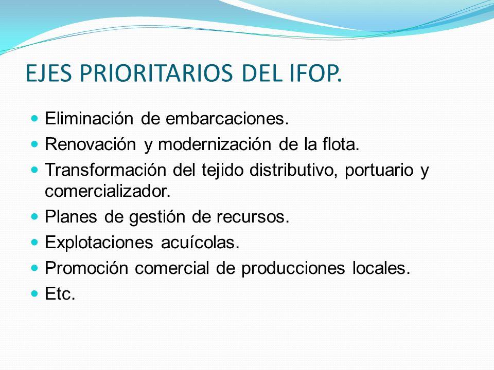 EJES PRIORITARIOS DEL IFOP.